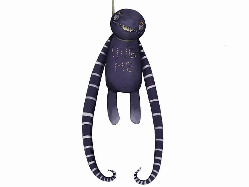 Hug Me is Unluckie trinket Cur is companion in Arcadia Tenebra RPG board game