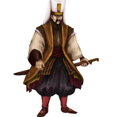 Janissary from Arcadia Tenebra RPG board game