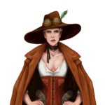 Hilda ia a playable character in Arcadia Tenebra RPG board game