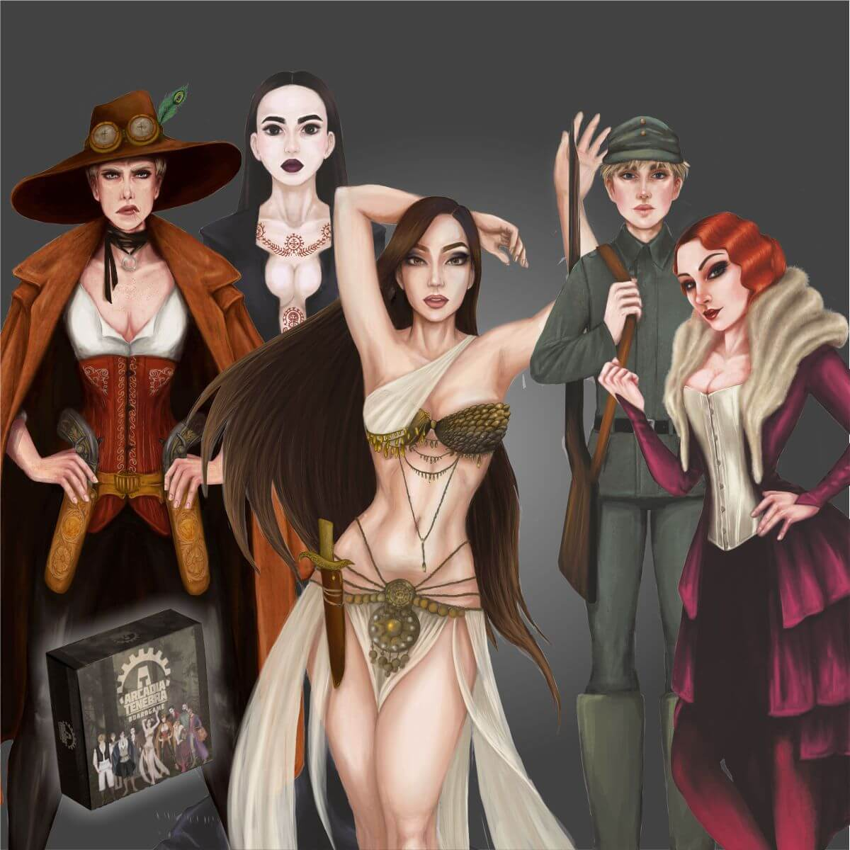 Female characters in Arcadia Tenebra